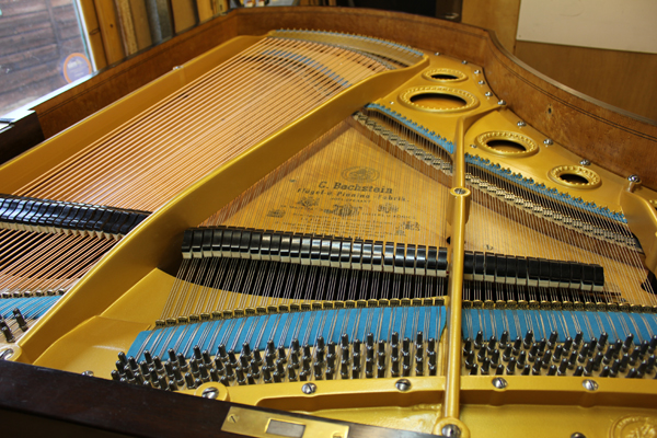 The piano fully restored